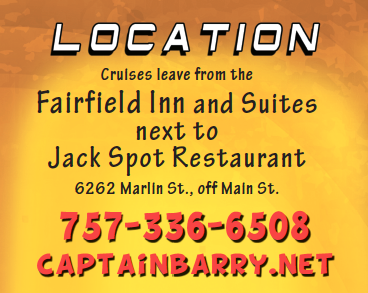 image: Capt Barry leaves from Fairfield Suites next to the Jackspot
